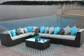Replacement seat cushions for outdoor furniture