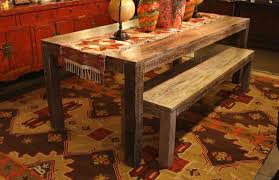 salvaged old boat wood dining table