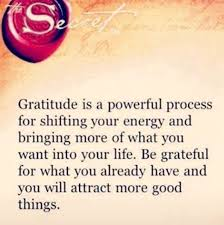 gratitude is a powerful process quote