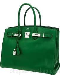 hermes 35cm vert bengale swift leather birkin bag with palladium hardware