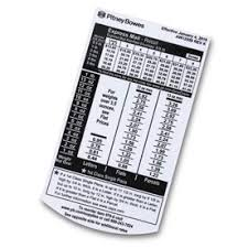 Pitney Bowes Postage Rates 2017 Chart Scale Rate Chart For Scale Models G795 G799 Pitney Bowes