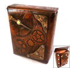 Steampunk Leather Pouch by Skinz-N-