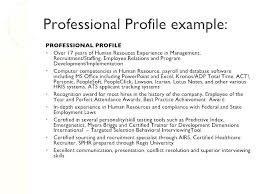 Professional Profile For Resume Professional Profile Resume Free Beauteous Professional Profile Resume