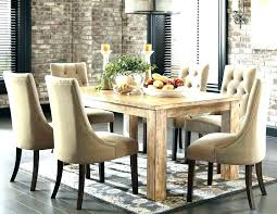 distressed wood dining table set room rustic round tables polished rectangular wooden d