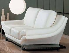 Small Picture Splitback Sofa Bed With Arms White Leather Textile Dark Wood Legs