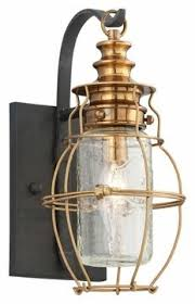 superb copper exterior lighting 6 copper outdoor. Unique Exterior Troy Lighting Little Harbor 1 Light 13 Inch Aged Brass With Forged Black  Accents Outdoor Wall Lantern On Superb Copper Exterior 6