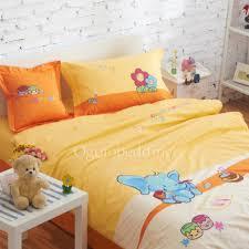 simple designer yellow animal gender neutral kids bedding sets