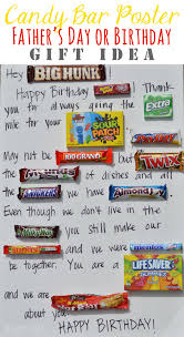 candy bar poster fathers day idea