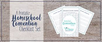 Your FREE Homeschool Convention Checklist Set · This Crazy ...