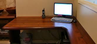 Reclaimed Redwood face grain custom wood desk top.