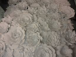 White Paper Flower Wall White Paper Flower Wall 8ft X 8ft Extra Large Paper Flowers Etsy