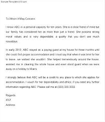 College Recommendation Letter From Family Friend Sample Recommendation Letter For A Friend Writing A Reference