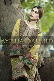 Ayesha Ahmed Formals Party Wear Dresses Designs 2017-18 Collection