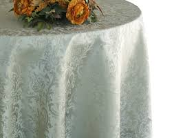 132 round jacquard damask polyester tablecloth silver 96740 1pc pk