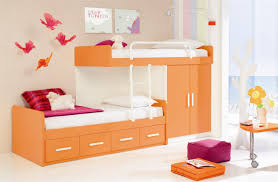 ideas for children rollaway beds are a very unique brown wooden bunk the fitted with wardrobes and lounge chairs the walls are pictures of four tail pink childrens fitted bedroom furniture