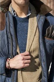 How to Wear a Navy Quilted Barn Jacket (4 looks) | Men's Fashion & A navy blue quilted barn jacket and a tan coat are a great outfit formula to Adamdwight.com