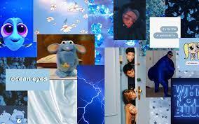 Aesthetic wallpaper laptop blue ...