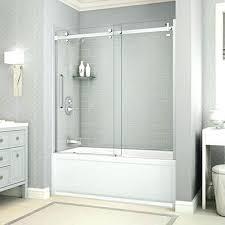 bypass sliding bathtub doors bathtubs the home depot custom shower door installation bathroom cost liner clocks