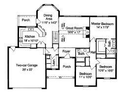 traditional house plan first floor 065d 0010 house planore