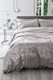velvet metallic foiled duvet cover