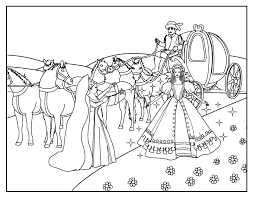 Coloring Pages Cinderella Coloring Page 4