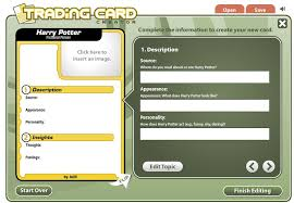 how to make your own trading cards create fake trading cards online teachbytes
