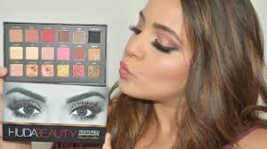 huda beauty rose gold edition palette makeup glamour norashak you