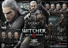 The Witcher 3 Wild Hunt Geralt of Rivia Deluxe Version 1/3 Statue by Prime1  ca 88 cm – bunker158.com