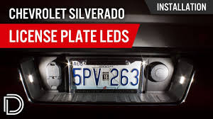 2018 Silverado License Plate Light Bulb How To Install Chevrolet Silverado License Plate Leds