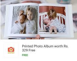 Free Foto Album Zoomin Flipkart Offer Order Printed Photos Album Worth Rs