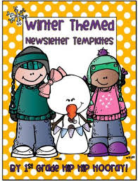 Free Winter Themed Newsletter Templates 15 Pages Keep