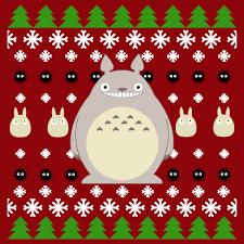 Ugly Anime Christmas Sweater - One Mighty Neighborly Tee - Neatorama