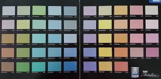 Berger Paint Chart Colour Guides