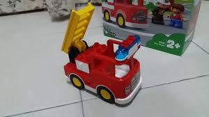 Lego Duplo Light And Sound Fire Truck Lego Duplo Fire Truck With Light And Sound Youtube