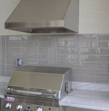 kitchen backsplash subway tile. Subway Tile Used To Create An Outdoor Kitchen Backsplash L