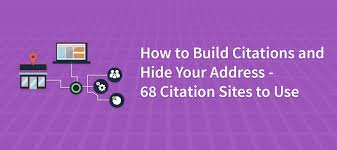 How To Build Citations And Hide Your Address
