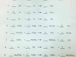 balancing chemical equations worksheet 1 answer key by chemistry w basic simple middle school workshee
