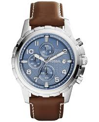 men pretty macys mens fossil watches allfossilwatches macys mens drop dead gorgeous fossil mens chronograph dean brown leather strap watch mm macys watches fs full