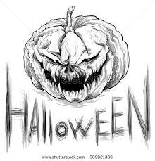 pumpkin drawing. vector illustration.hand drawing. wicked pumpkin. halloween. pumpkin drawing