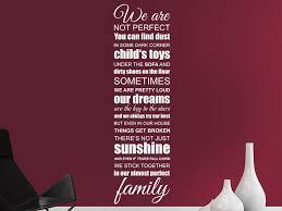 Wandtattoo We Are Family Familien Spruchband Wandtattoode