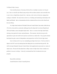 college admissions letter of recommendation sample writing letters of recommendation for students for college