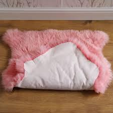 pink sheepskin rug single
