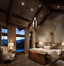 how to create your rustic bedroom look stunning rustic bedroom ideas and ceiling lighting in