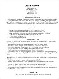 Resume Templates: Fitness And Personal Trainer