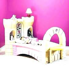 Charming Twin Carriage Bed W Canopy Size Princess Home Improvement ...