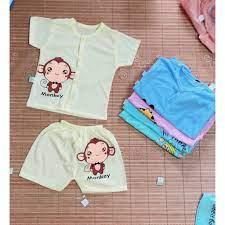 Khuya giữa - Sét 10 bộ quần áo mùa hè cho trẻ sơ sinh/ Hàng khuay giữa  giành cho bé trai , bé gái chính hãng 160,000đ