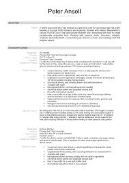 Cover Letter Personal Chef Resume Personal Chef Resume Templates