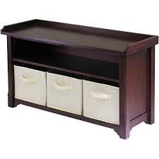 Bedroom furniture benches Storage Walmart Milan Storage Bench Walnut Walmartcom