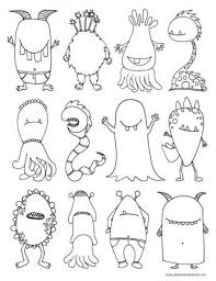 Monsters Coloring Page Paper Crafts Printables Monster
