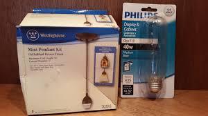 westinghouse 7028500 single light oil rubbed bronze pendant fitter kit gift